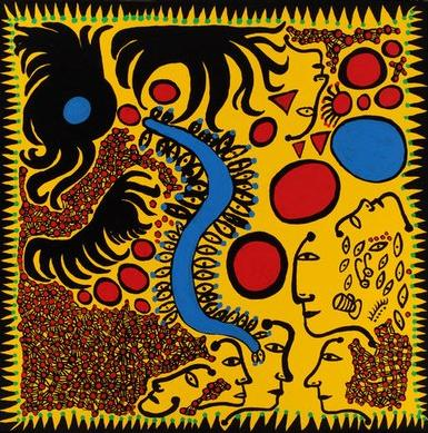 Yayoi Kusama at the Victia Miro art gallery in London, contemporary Japanese art now in London UK,