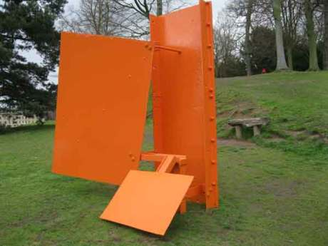 Sir Anthony Caro's exhibition of sculptures being displayed at Chatsworth house,modern sculpture by the leading British artist Sir Anthony Caro,