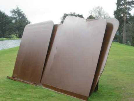 Double flats by Sir Anthony Caro, a British sculpture and artist trained at the Royal Academy,