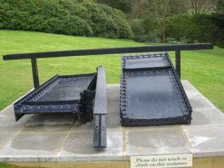 """Sir Anthony Caro the """"Lock"""" constructed in 1962, Caro is a leading British artist and a member of the Royal Acadamy,"""