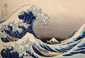 The great wave by japaneseedo period artist Hokusai