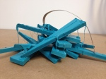 contemporary sculpture by Gregory,small sculpture for the home,wood and metal sculpture,