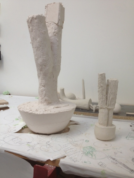 Tower of Thought ,sculpture,contemporary sculpture,anatomical sculpture,art,plaster sculpture,