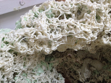 Curious cavities, sculpture by Gregory, foam sculpture