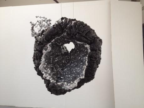 Curious Cavities II, No.1 2015 Aluminium, foam, acrylic paint 52 x 24 cm.
